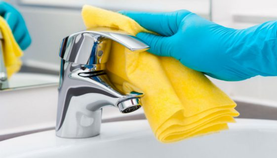 How to Clean Bathroom Faucet Handles and Faucets