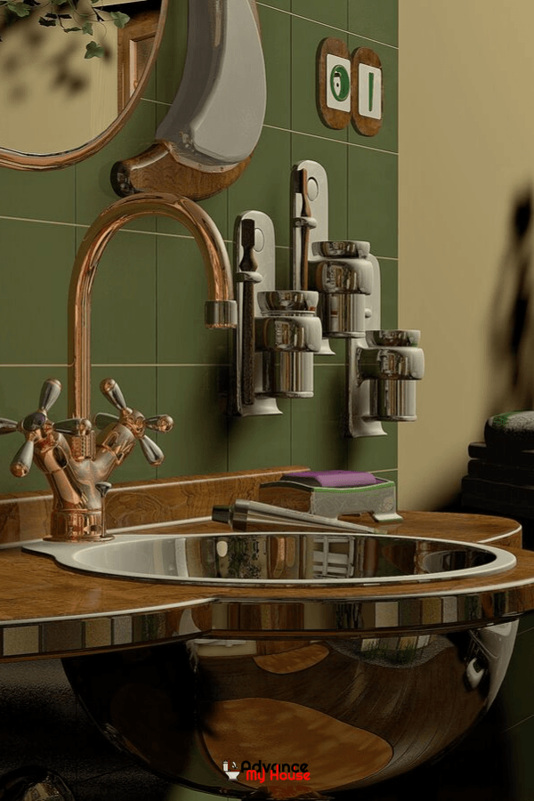 Bathroom faucet with sink
